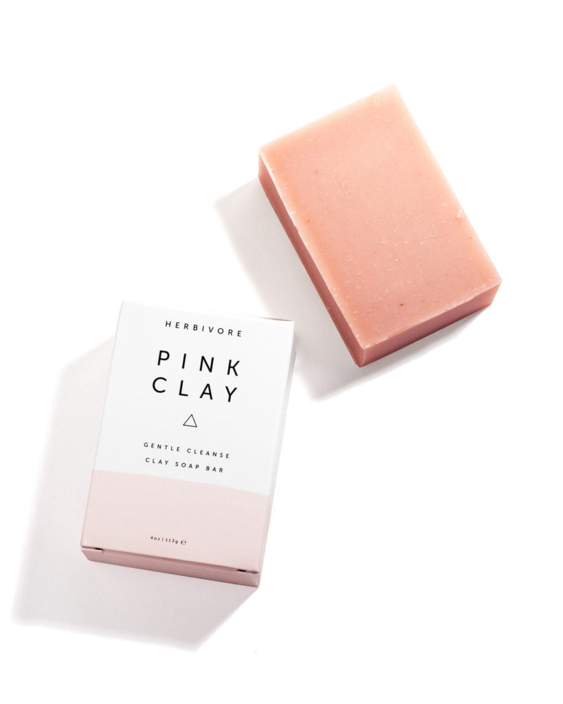 herbivore botanicals pink clay cleansing bar soap